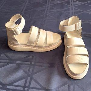 White Clarissa Dr. Doc Martens Sandals US8 EU 39 UK 6